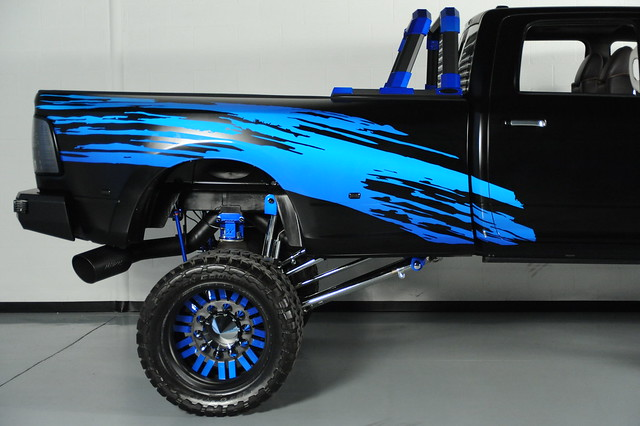 truck dallas dodge ram forces 2012 3500 dually americanforce blkblue amerianforcewheels