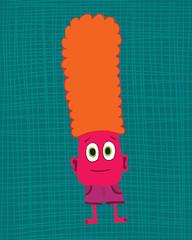 Monster Chip (Ferntree Studio) Tags: baby silly art goofy monster kids illustration print children fun artwork toddler colorful graphic bright nursery cartoon illustrator etsy comical whimsical bedroomdecor ferntreestudio angelatraunig