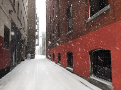 park here (Mr.  Mark) Tags: park city winter red white snow toronto wall photo alley stock markboucher