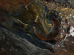 Beautiful slurry (tig.sutton) Tags: red green ink gold mix drain waste slurry