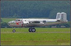 North American B-25 Mitchell J _N6123C_Red Bull - The Flying Bulls_Zeltweg (ferdahejl) Tags: plane airport aircraft planes flughafen flugzeug airbase aircrafts northamerican zeltweg n6123c redbulltheflyingbulls {vision}:{outdoor}=0989 {vision}:{car}=0608 {vision}:{sky}=0896 {vision}:{text}=0507 b25mitchellj