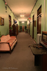 A Hallway in Jerome Grand Hotel (eoscatchlight) Tags: arizona hotel haunted hallway jerome jeromegrandhotel