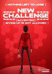 new challenge (Sherif Nagy) Tags: new red art up illustration digital photoshop painting graphics drawing manga giving scifi nothing lose 2d challenge sherif allowed accepted givingup nagy sherifnagy