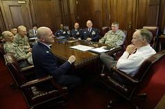 03-10-2014 Alabama National Guard Officers Brief Governor Bentley