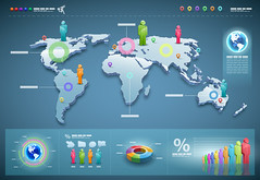 Vector world infographics set. (liamrowee) Tags: world people woman chart man businessman set modern bar turkey computer pie person corporate design 3d team globe graphics technology symbol sale map earth web board report internet graph icon communication collection business growth elements document conversation network arrow presentation shape visualization information vector template connection statistic infographics demographics