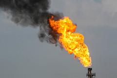 Gas Flaring, Halfaya Oilfield, Iraq