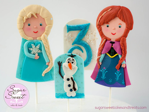 Disney Frozen Fondant Cake Toppers
