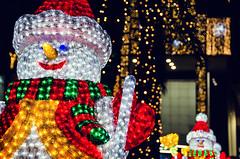Glowing (Melissa Maples) Tags: winter decorations night turkey dark lights nikon asia bokeh trkiye shoppingcentre antalya snowmen nikkor vr afs  avm migros 18200mm  f3556g  18200mmf3556g d5100 5mmigros