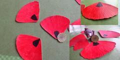 envie de coquelicot (Sarmacande) Tags: collage dessin poppy papier coquelicot