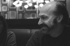 Dinner Conversation (flashfix) Tags: family portrait blackandwhite bw ontario canada man male monochrome smile beard happy lights restaurant nikon dad ottawa 40mm 2015 d7000 nikond7000 runningman1958 january232015 2015inphotos