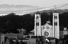 st. anne of the sunset (eb78) Tags: sf sanfrancisco california ca blackandwhite bw church monochrome grayscale innersunset greyscale stanneofthesunset