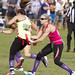 Blonde vs Brunette flag football for charity