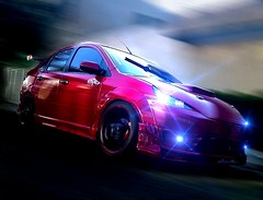 Rave Party (Alyaz7) Tags: street blur cars ford fiesta autos tuning panning carlights xenon photoshopedit barrido sonyxperiazl lucesautomotrices corelphotopaintedit sonyc6506