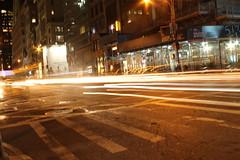 5th Avenue - NYC (callingiulio) Tags: street nyc newyork lightpainting cars lights traffic unitedstates streetlife lightpainters