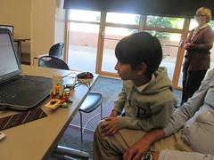 LEGO WeDo Carousel @ Haggard Library 5/3/16 (plano.library) Tags: library libraries tx carousel haggard plano ppls libraryprogram justforkids planopubliclibrarysystem legowedo juniorrobotics