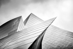 Waves (Carrie McGann) Tags: architecture clouds losangeles interesting nikon frankgehry dtla waltdisneyconcerthall 050516