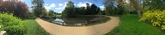University Parks pano (breakbeat) Tags: summer panorama green nature water publicspace river pond stream university outdoor path wildlife parks foliage swans lilies oxford cherwell iphone