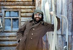 Portrait. Film. (azh565) Tags: winter snow ski film siberia 1984 eastern sayan avalanche