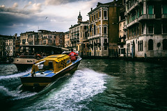 Coming through... (Rotundus III) Tags: venicew venice italy lagoon canal canals grandcanal vaparetto waterbus ambulance emergency emergencyservices speed boat ambulancespeedboat rialto san marco sanmarco
