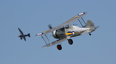 Gloster Gladiator & Lysander in the distance (PVJ Photography 2012) Tags: gladiator gloster