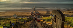 Saltburn Cliff Lift and Pier (dave hudspeth photography) Tags: old sea england cliff beach water landscape nikon power lift view yorkshire famous victorian iconic teesside saltburn davehudspeth