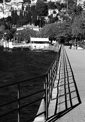 Bellano - Promenade and Shadows - Lake Como Italy (Gilli8888) Tags: trees shadow blackandwhite bw italy lake shadows promenade lakecomo lombardia lombardy bellano
