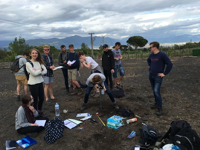 The vineyard equation ….. Wine + student + auger = wonky coring!
