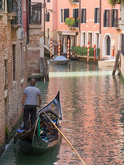 No Fare (Nigel Wallace1) Tags: venice red italy plants holiday water buildings hotel boat olympus tourists explore gondola