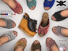 Salou :: Shoes :: 10 Colors ({kokoia}) Tags: salou kokoia shoes secondlfie slink sl summer sandals mesh maitreya mid tmp themeshproject wedges woman