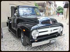 Ford F-100, 1955 (v8dub) Tags: auto old classic ford 1955 up car schweiz switzerland automobile suisse pickup automotive voiture american f oldtimer 100 pick oldcar collector wagen pkw klassik pritsche auvernier worldcars