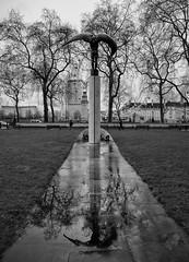Wings (Wormsmeat) Tags: embankment reflection wings londoneye rain countyhall fleetairarmmemorial jamesbutler panasonic dmcgm5