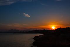 Hora de fuego (saparmo) Tags: light sunset sea espaa sun seascape sol water clouds atardecer mar agua murcia nubes cartagena anochecer seleccionar