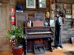 piano (Grenzeloos1) Tags: glass coffee caf milk interesting interiors drink witch beverage piano masks queensland mtglorious elmhaus