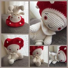 Kuschelpilz (Lenekie) Tags: mushroom toy crochet amigurumi