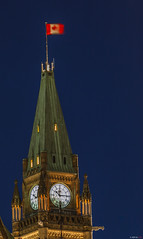 Peace Tower (Asif A. Ali) Tags: canada night canon flag ottawa capital canadian parliamenthill peacetower 70200mm asifaali asifalicom parliamentducanada