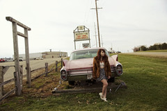 (yyellowbird) Tags: pink selfportrait girl car illinois cari