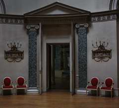 Doorway (My photos live here) Tags: door england home canon eos hall chairs derbyshire national seats trust derby stately curzon kedleston 1000d