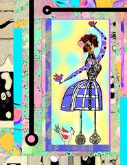 bohemian whimsey (ladybumblebee) Tags: art collage whimsy misedmediaart