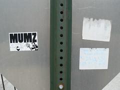 mumz slap (httpill) Tags: streetart chicago art graffiti sticker tag graf slap slaptag mumz