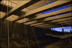 Return to S-1 (Nelson Webb) Tags: lightpainting underpass edmonton bluehour hobos anthonyhenday structureone hoboswithnikons