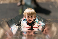 What a slide is built for! Fun fun fun (clegster) Tags: uk boy reflection smile fun nikon slide abraham matlock d4 hights