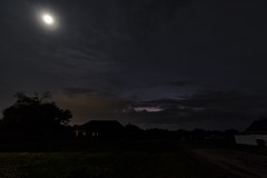 Westward to the storm (SFHPhotography) Tags: sky cloud moon storm weather night clouds cloudy stormy lightning storms thunder shelfcloud