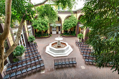 main courtyard at the Hotel Mazarin (New Orleans Hotel Collection) Tags: usa architecture hotel la us chair neworleans courtyard frenchquarter