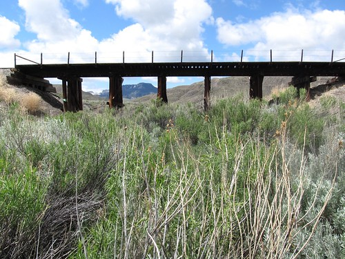 Milwaukee Road.  Butte Creek Bridge.  Montana