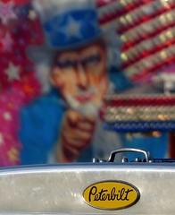 "American Truck - ""This circus needs YOU!"" (velton) Tags: park uk vegas irish beach america truck canon lumix coast scotland 300d you circus panasonic want needs irvine harbourside peterbilt ayrshire i fz18 fz200"