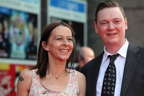 Kate Dickie on the red carpet for the European premiere of Breathe In
