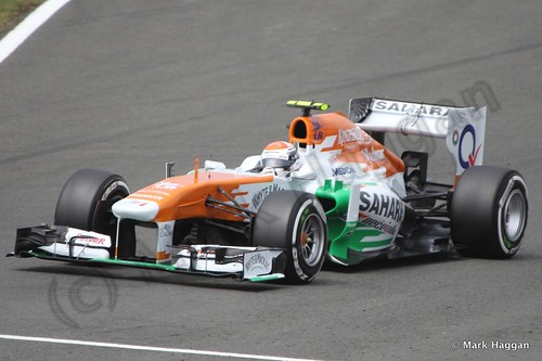 Adrian Sutil in Qualifying for the 2013 British Grand Prix