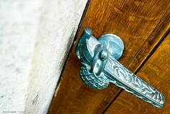 fisherman handle (KLAVIeNERI) Tags: door church düsseldorf doorhandle leicaforum leicax1 leicaimages ilovemyleica lightroom5 photographersontumblr