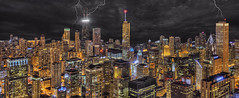 Northeast Aerial Panorama - Chicago Beacon (Mister Joe) Tags: park urban panorama chicago detail skyline night clouds buildings lights illinois nikon aqua downtown skyscrapers loop grant searstower perspective stormy millennium diamond lakemichigan roanoke olympia elysian lightning dynamicrange wrigleybuilding hancock iconic prudential aon hdr willis pittsfield lakefront intercontinental marinacity daley chasetower blend randolph burnett ubs tribunetower corncobs palmolive watertowerplace smurfitstone aoncenter jewelers carbideandcarbon lakepointtower cbot twoprudentialplaza attcorporatecenter 900north lekas hyattcenter rrdonnelly cnatower craincommunications unitedbuilding midcontinental 400north 55eerie aerialchicago 311swackerdrive architectureandstructures 330northwacker