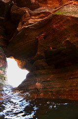 KCC_1164 (kccornell) Tags: sea lake beach wisconsin kayak superior cave meyers cornucopia